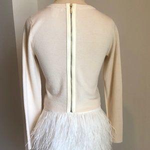 Club Monaco White Back Zipper Sweater xs
